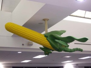 corn penis, art in hartsfield jackson international airport, atlanta airport art