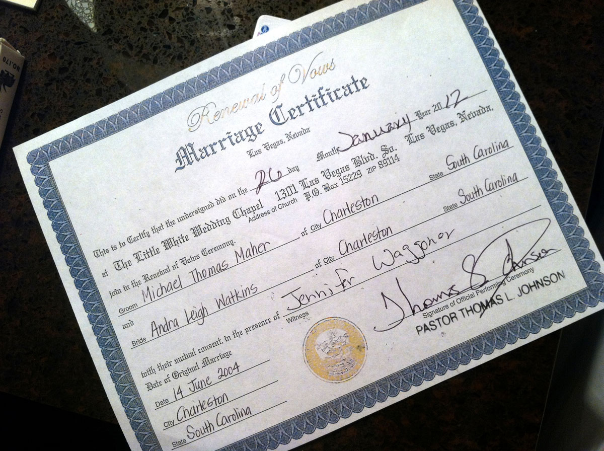 References On Resume Clark County Marriage Certificate