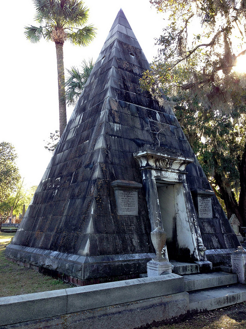 pyramid at magnolia cemetery charleston sc, magnolia cemetery charleston sc photo