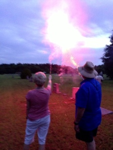 roman candles, fireworks
