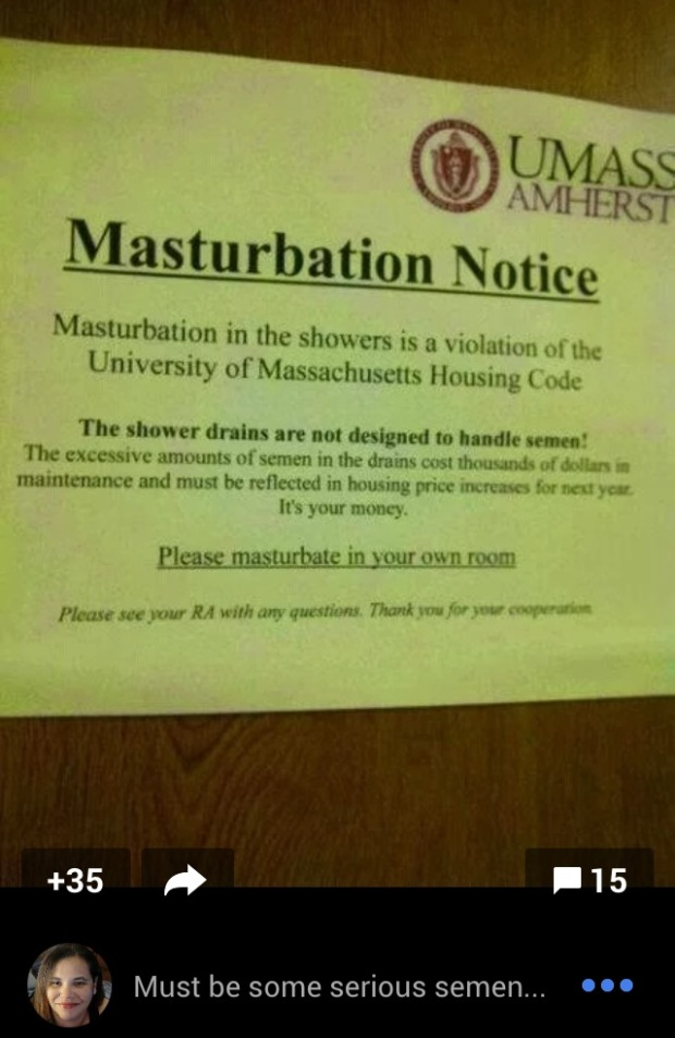 masturbation notice umass